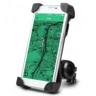 image of UNIVERSAL ADJUSTABLE BICYCLE MTB MOTORCYCLE HOLDER BIKE MOUNT FOR MOBILE PHONE (BLACK)