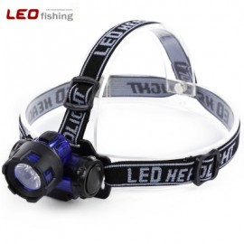 image of LEO NIGHT FISHING HEADLIGHT WATER RESISTANT CYCLING FLASHLIGHT LED HEAD LIGHT TORCH FOR OUTDOOR CAMPING HIKING (BLACK)