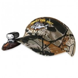 image of LEO ADJUSTABLE CAMO FISHING HAT WITH LED HEADLAMP (COLORMIX) -