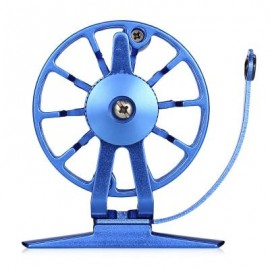 image of RIGHT HAND FULL METAL ULTRA-LIGHT FORMER FLY FISHING REEL (BLUE) 0