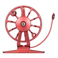 image of RIGHT HAND FULL METAL ULTRA-LIGHT FORMER FLY FISHING REEL (RED) 0