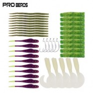 image of PRO BEROS 40PCS / SET SOFT WORM FISHING LURE BAIT FISH HOOK (MULTI) 0