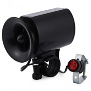 image of BICYCLE BIKE ULTRA-LOUD BELL ELECTRONIC HORN ALARM SIREN (BLACK)