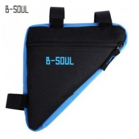 image of B - SOUL BICYCLE FRONT TUBE TRIANGLE BAG OUTDOOR CYCLING ACCESSORIES (BLUE)
