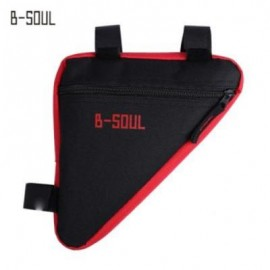 image of B - SOUL BICYCLE FRONT TUBE TRIANGLE BAG OUTDOOR CYCLING ACCESSORIES (RED)