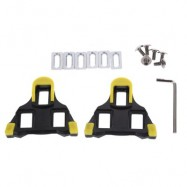 image of 2PCS BICYCLE CYCLING SELF-LOCKING BIKE PEDAL CLEAT PLATE (YELLOW AND BLACK)