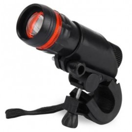 image of Q5 WATERPROOF 3W 140LM 3 MODES LED BIKE LIGHT ZOOMABLE FLASHLIGHT WITH TORCH HOLDER (RED WITH BLACK)