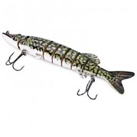 image of PIKE MUSKIE FISHING LURE BAIT LIFE-LIKE BABY MULTI-JOINTED SWIMBAIT (GREEN) S