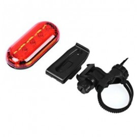 image of BIKE BICYCLE SUPER BRIGHT WATER RESISTANT 5 LEDS 3 MODES REAR SAFETY LIGHT TAIL LAMP (RED)