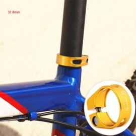 image of QIYANG QY-01 BIKE SEAT POST CLAMP 31.8MM 6061 ALUMINUM ALLOY MOUNTAIN ROAD MTB BICYCLE TUBE CLIP (GOLDEN)