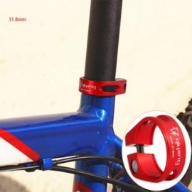 image of QIYANG QY-01 BIKE SEAT POST CLAMP 31.8MM 6061 ALUMINUM ALLOY MOUNTAIN ROAD MTB BICYCLE TUBE CLIP (RED)