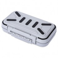 image of MULTIFUNCTIONAL 16 COMPARTMENTS DOUBLE SIDE WATER RESISTANT FISH BAIT TACKLE STORAGE BOX (GRAY)