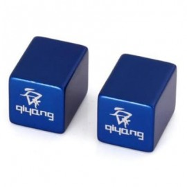 image of 2PCS ALUMINUM ALLOY MATERIAL SQUARE SHAPED BIKE TYRE AIR VALVE CAP (BLUE)