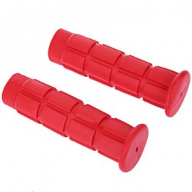 image of PAIRED SOFT CYCLING ADHESIVE PERFORMANCE RUBBER HANDLEBAR GRIP (RED)