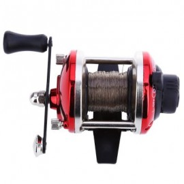 image of MINI RIGHT HAND DRUM FISHING WIRE (RED) 9.10 x 6.60 x 4.50 cm
