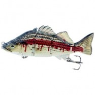 image of ABS MATERIAL 4 SECTION SWIMBAIT HARD MULTI JOINTED FISHING LURE BAIT FOR BASS TROUT FISHING (COLORMIX)