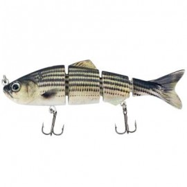 image of 4 SECTION ABS MATERIAL SWIMBAIT HARD MULTI-JOINTED FISHING LURE BAIT FOR BASS TROUT FISHING (COLORMIX)