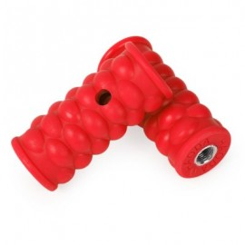 image of 2PCS BICYCLE CYCLING MOUNTAIN BIKE PLASTIC WHEEL PEDALS FOOT PEGS (RED)