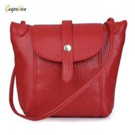 image of GUAPABIEN DIY STRAP ARROW BELT MAGNET BUTTON ZIPPER SHOULDER CROSSBODY MESSENGER BAG FOR LADY (RED) HORIZONTAL