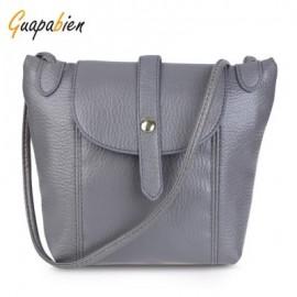 image of GUAPABIEN DIY STRAP ARROW BELT MAGNET BUTTON ZIPPER SHOULDER CROSSBODY MESSENGER BAG FOR LADY (DEEP GRAY) HORIZONTAL