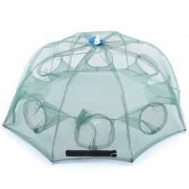 image of LIGHT 8 SIDE BAIT FISHING TRAP NET ANGLING OUTDOOR APPLIANCE (GREEN) -