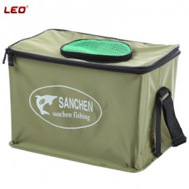 image of LEO CANVAS WATER BOX BAG CONTAINER BUCKET (BLACKISH GREEN)