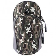 image of OUTDOOR SPORT CELLPHONE BAG RUNNING WRIST POUCH (CAMOUFLAGE BLUE) -