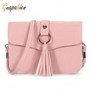 image of GUAPABIEN CASUAL TASSEL WOMEN SHOULDER CROSSBODY BAG (PINK) -