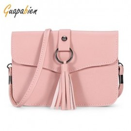 image of GUAPABIEN CASUAL TASSEL WOMEN SHOULDER CROSSBODY BAG (PINK) -