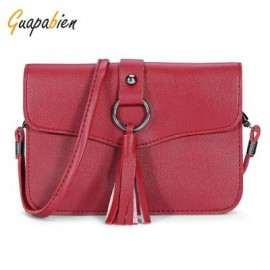 image of GUAPABIEN CASUAL TASSEL WOMEN SHOULDER CROSSBODY BAG (RED) -