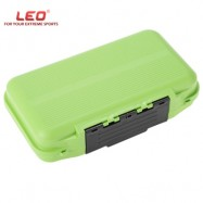 image of LEO DETACHED FISHING LURE HOOK BOX FISH ACCESSORY TOOL TACKLE CONTAINER WITH COMPARTMENT (GREEN)