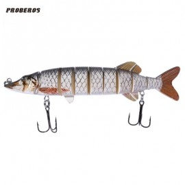 image of PROBEROS OUTDOOR ARTIFICIAL 9 SECTIONS BIG PIKE FISHING LURE (COLORMIX) COLOR F