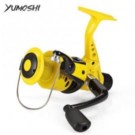 image of YUMOSHI 12BB 5.5:1 PLASTIC FISHING SPINNING REEL (YELLOW) CTR7000