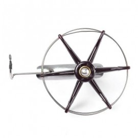 image of STAINLESS STEEL WIRE CAGE HAND GEAR EIGHT TRIGRAM FISHING REEL WHEEL FISH ANCHOR ACCESSORY (COLORMIX, DIAMETER 80MM/100MM/120MM/150MM/200MM) Diameter 80MM