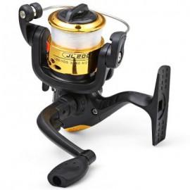 image of JL200 ELECTROPLATING FISHING SPINNING REEL (YELLOW) 10.00 x 10.00 x 6.00 cm