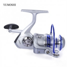 image of YUMOSHI 12BB HALF METAL SPINNING REEL FISHING TACKLE WITH FOLDABLE HANDLE (COLORMIX) AL1000