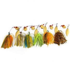 image of 6 PCS FISHING LURE SPINNER BUZZ BAIT FOR BASS CRANK (COLORMIX)