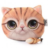 image of CARTOON CAT ZIPPER DESIGN WORKMANSHIP COIN PURSE FOR LADIES (YELLOW) 15.50 x 13.00 x 1.50 cm