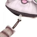 CARTOON CAT ZIPPER DESIGN WORKMANSHIP COIN PURSE FOR LADIES (COFFEE) 15.50 x 13.00 x 1.50 cm