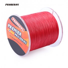 image of PROBEROS 500M DURABLE COLORFUL PE 4 STRANDS MONOFILAMENT BRAIDED FISHING LINE ANGLING ACCESSORY (RED) 60LBS