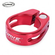 image of WAKE 31.8MM MTB BICYCLE BIKE QUICK RELEASE ALUMINUM ALLOY SEAT POST CLAMP TUBE CLIP (RED)