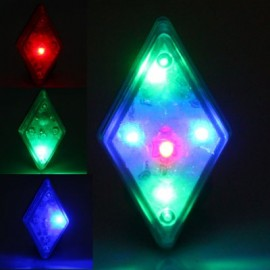 image of BIKE RHOMBUS REAR LAMP RIDING WARNING LIGHT 5 LED 7 MODE SAFETY TAILLIGHT FOR OUTDOOR CYCLING (WHITE)