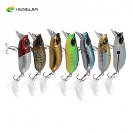 image of HENGJIA 7PCS 7 COLORS FISHING LURE BAIT CRANKBAIT TACKLE PLUME HOOK (COLORMIX) -