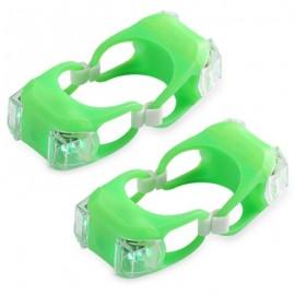 image of 2PCS BIKE REAR LIGHT LED TAILLIGHT SAFETY WARNING LAMP (EMERALD)