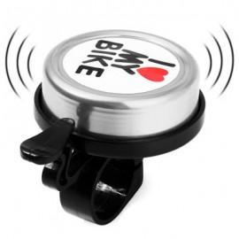 image of METAL / PLASTIC CYCLING HANDLEBAR RING ALARM BELL (SILVER)