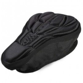 image of 3D SILICONE MEMORY SPONGE SADDLE ANTI-SKID AIR-PERMEABLE BIKE SEAT COVER (BLACK)