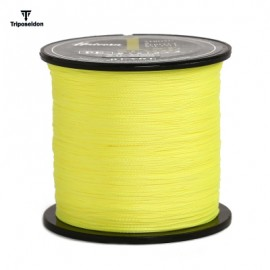 image of TRIPOSEIDON 500M GOOD QUALITY 4 STRANDS PE BRAIDED FISHING LINE (YELLOW) 4.0