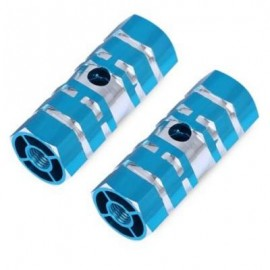 image of PAIRED OUTDOOR NON-SLIP COLUMN SHAPE BICYCLE PEDAL FOR CRAZY RIDER (BLUE)
