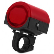 image of ULTRA-LOUD MTB ROAD BICYCLE BIKE ELECTRONIC BELL HORN 360 DEGREE ROTATION CYCLING HOOTER SIREN (RED)