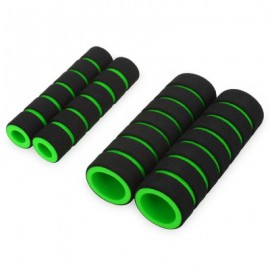 image of ONE PAIR SOFT SPONGE FOAM HANDLE HANDLEBAR GRIP COVER FOR ROAD MOUNTAIN BIKE (LIGHT GREEN)